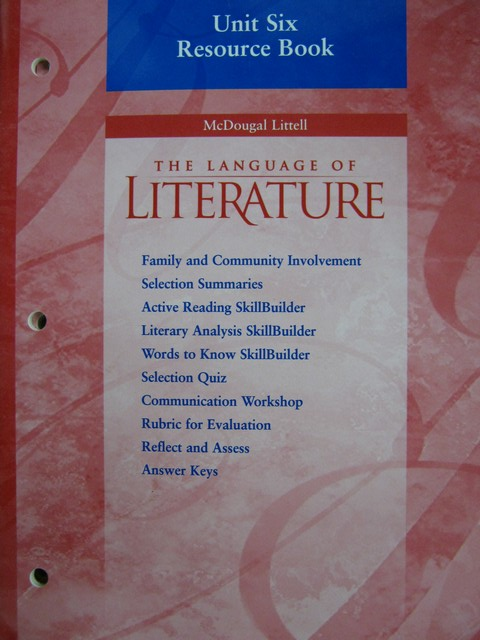Language of Literature 7 Unit 6 Resource Book (CA)(P)