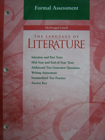 Language of Literature 7 Formal Assessment (CA)(P)