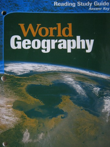 World Geography Reading Study Guide Answer Key (P)