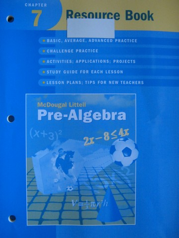 Pre-Algebra Chapter 7 Resource Book (P) by Larson, Boswell,