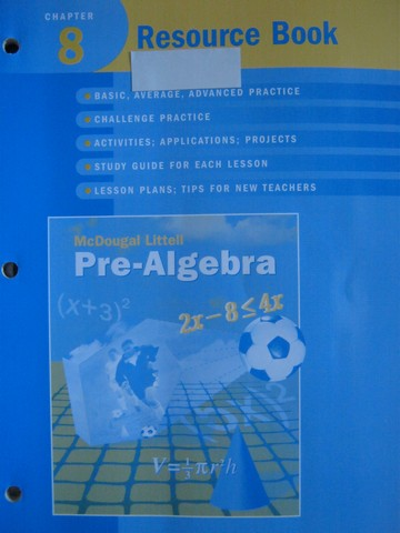Pre-Algebra Chapter 8 Resource Book (P) by Larson, Boswell,