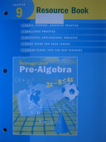 Pre-Algebra Chapter 9 Resource Book (P) by Larson, Boswell,