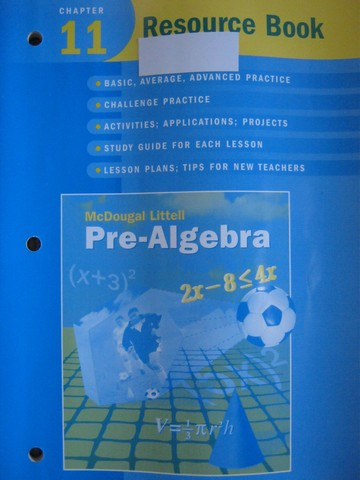 Pre-Algebra Chapter 11 Resource Book (P) by Larson, Boswell,