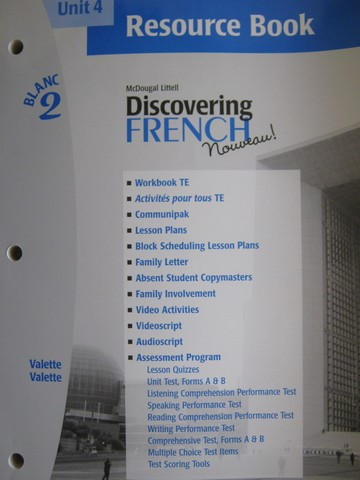 Discovering French Nouveau Blanc 2 Unit 5 Resource Book P 0618298916 28 95 K 12 Quality Used Textbooks Textbooks Workbooks Answer Keys Assessments Teacher Editions