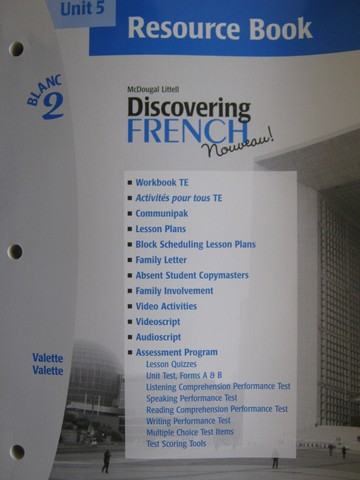 Discovering French Nouveau Blanc 2 Unit 5 Resource Book P