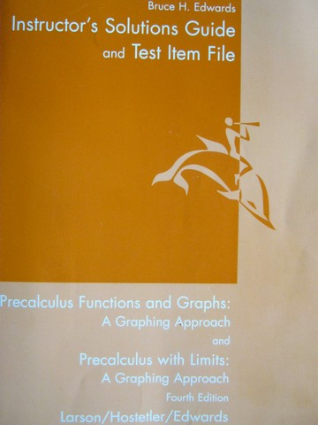 Precalculus with Limits 4th Edition Instructor's Solutions (P)