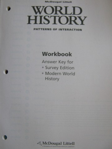 World History Patterns Of Interaction Workbook Answer Key P Awesome World History Patterns Of Interaction Answers