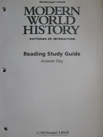 Modern World History Reading Study Guide Answer Key (P)