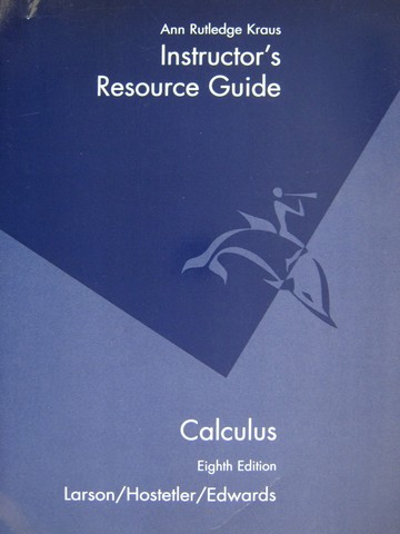 Calculus 8th Edition Instructor's Resource Guide (TE)(P)