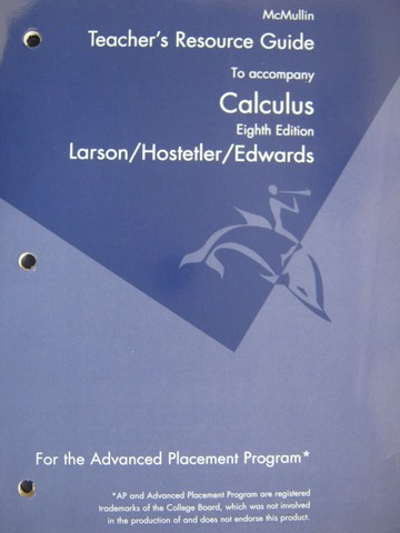 Calculus 8th Edition AP Program Teacher's Resource Guide (TE)(P)