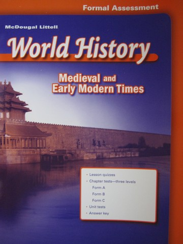 Medieval & Early Modern Times Formal Assessment (P)