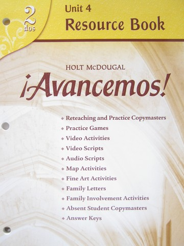 Avancemos! 2dos Revised Unit 4 Resource Book (P)