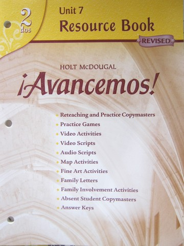 Avancemos! 2dos Revised Unit 7 Resource Book (P)