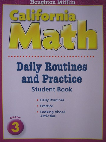 California Math 3 Daily Routines & Practice Student Book (CA)(P)