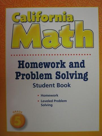 California Math 5 Homework Problem Solving CA P