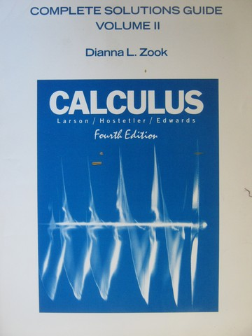 Calculus 4th Edition Complete Solutions Guide Volume 2 (P)