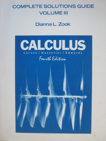Calculus 4th Edition Complete Solutions Guide Volume 3 (P)