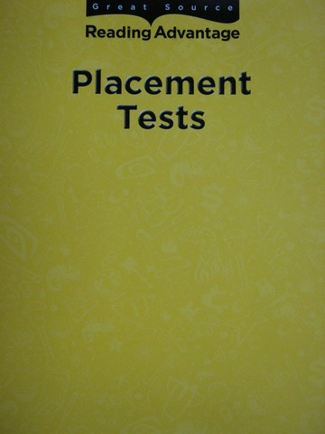 Reading Advantage Placement Tests (P)