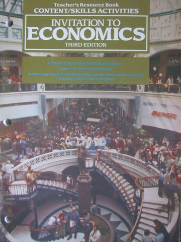 Invitation to Economics 3rd Edition TRB Content Skills (P)