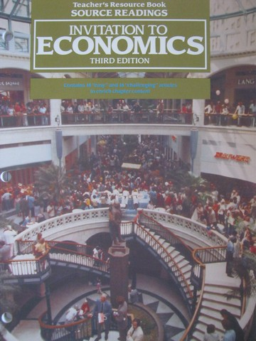 Invitation to Economics 3rd Edition TRB Source Readings (TE)(P)