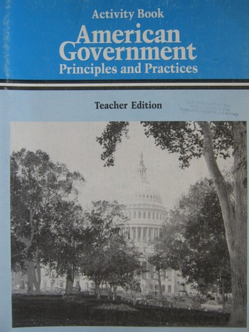 American Government Principles & Practice Activity Book (TE)(P)