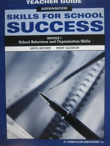 Skills for School Success Advanced Module 1 TE (TE)(Spiral)
