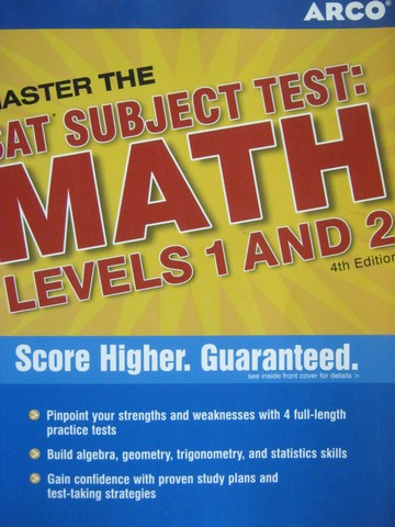 Master the SAT Subject Test Math Levels 1&2 4th Edition (P)
