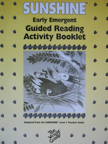 Sunshine Early Emergent Guided Reading Activity Booklet TG (P)