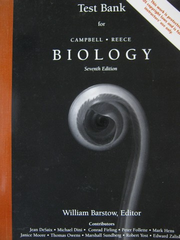 biology 7th edition test bank p by william barstow 0805371540 rh textbooknbeyond com Campbell Biology 5th Edition campbell biology 7th edition study guide pdf