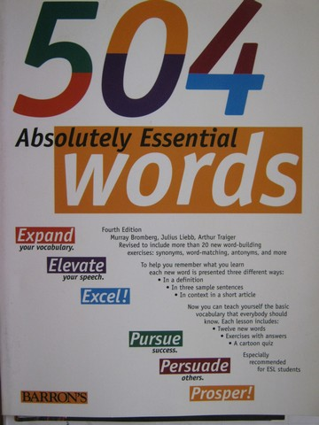 504 Absolutely Essential Words 4th Edition (P) by Bromberg