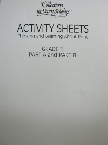 Collections for Young Scholars 1 Activity Sheets A&B (P)