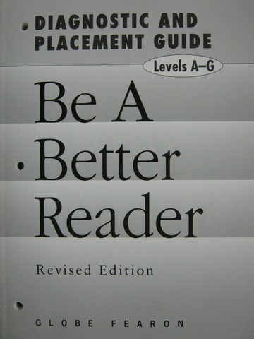 Be a Better Reader Diagnostic & Placement Revised Edition (P)