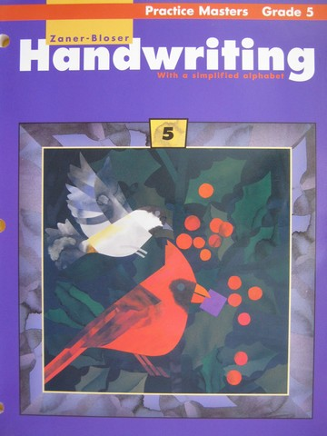 Handwriting with a Simplified Alphabet 5 Practice Masters (P)