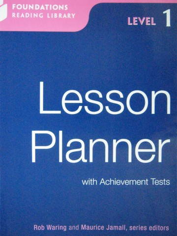 Foundations Reading Library 1 Lesson Planner (P) by Waring,