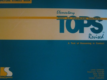 Elementary TOPS Revised Picture Stimuli Book (Spiral) by Zachman