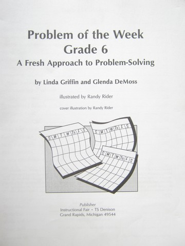 Problem of the Week Grade 6 (P) by Griffin & DeMoss