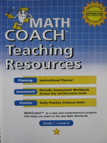 MathCoach Grade 1 Level A Teaching Resources (CA)(Spiral)