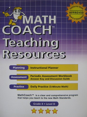MathCoach Grade 4 Level D Teaching Resources (CA)(Spiral)