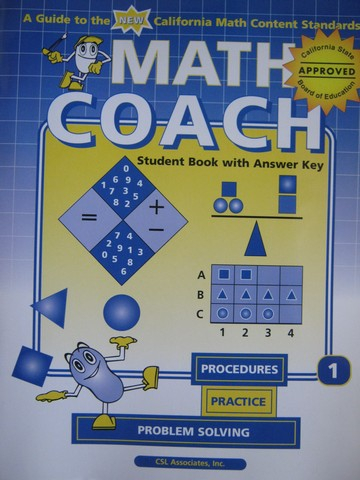 MathCoach Grade 1 Student Book with Answer Key (CA)(TE)(P)