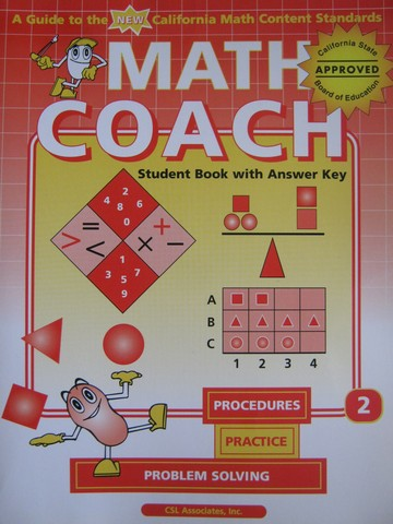 MathCoach Grade 2 Student Book with Answer Key (CA)(TE)(P)