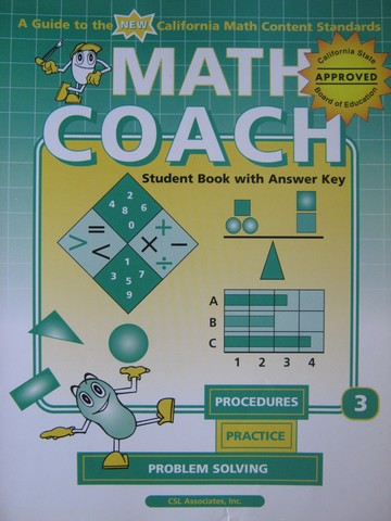 MathCoach Grade 3 Student Book with Answer Key (CA)(TE)(P)