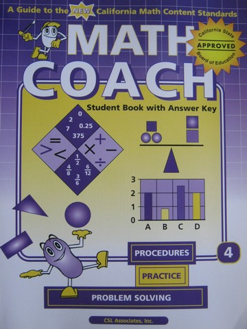 MathCoach Grade 4 Student Book with Answer Key (CA)(TE)(P)