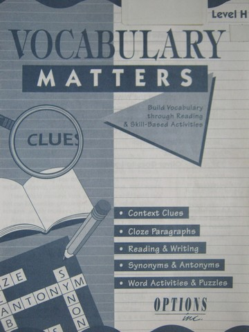 Vocabulary Matters Level H (P) by Patty Moynahan