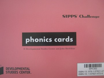 SIPPS Challenge Phonics Cards (Pk) by John Shefelbine