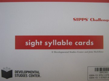 SIPPS Challenge Sight Syllable Cards (Pk) by John Shefelbine