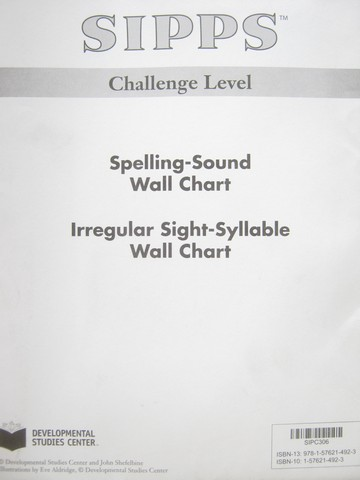 SIPPS Challenge Spelling-Sound Wall Chart (Pk) by Shefelbine