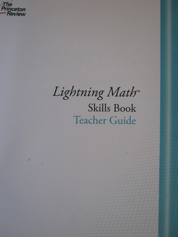 Lightning Math Skills Book TG (TE)(P) by Barbara A Heinssen