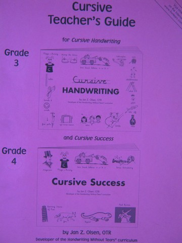 Handwriting Without Tears Grades 3-4 Cursive TG 7e (TE)(P)
