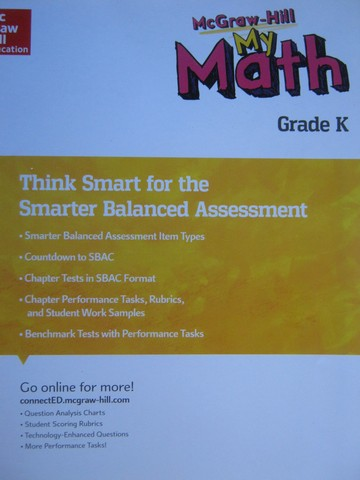 My Math K Think Smart for the Smarter Balanced Assessment (P)