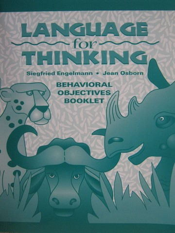 Language for Thinking Behavioral Objectives Booklet (P)